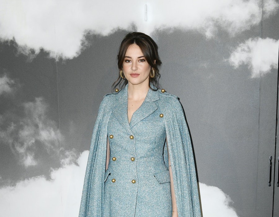 Shailene Woodley attends the Christian Dior Haute Couture Fall/Winter 2019 2020 show as part of Paris Fashion Week on July 01, 2019 in Paris, France.