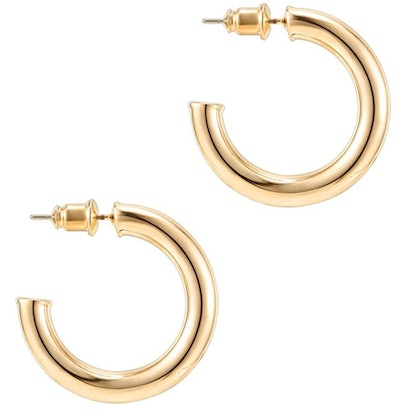 PAVOI 14K Gold Chunky Hoops