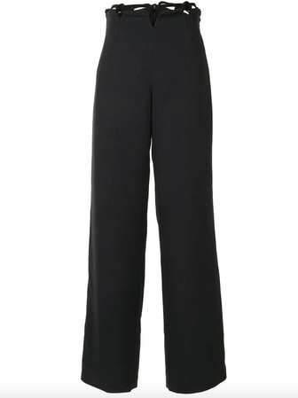 Cut-Out Wide Leg Trousers