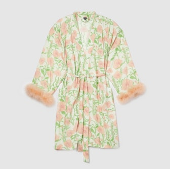 Ultimate Fur-Lined Floral Robe
