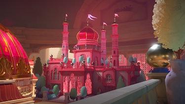 maquette pink building castle annapurna interactive puzzle indie