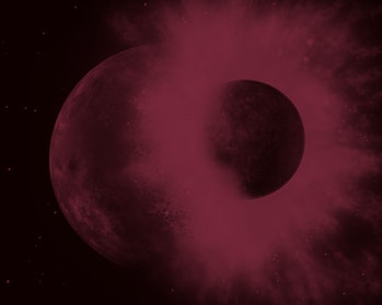 This theory, known as the impact hypothesis, is one of three main theories of how the Moon formed. T...