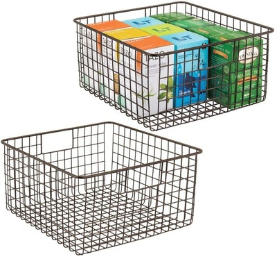 mDesign Metal Wire Food Storage Organizer (2-Pack)