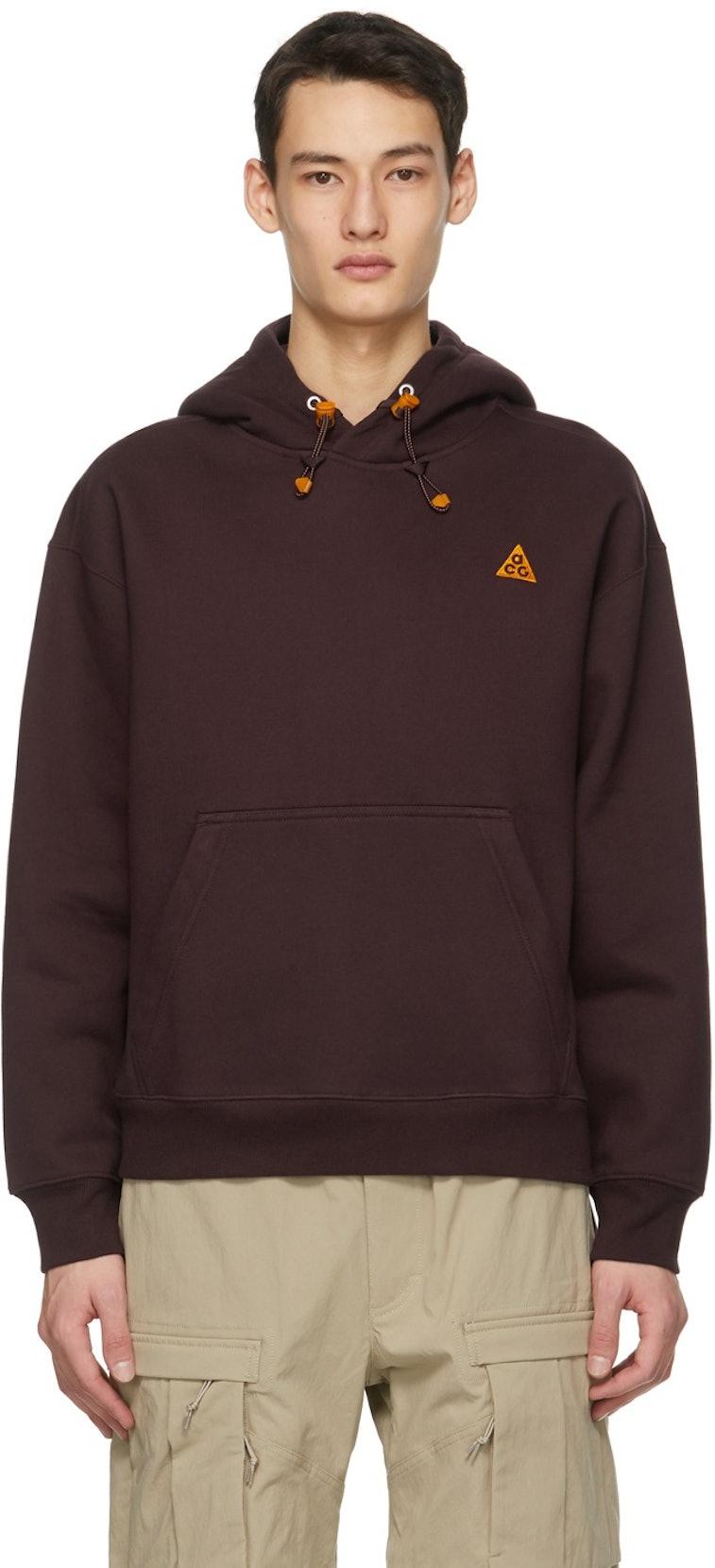 Nike ACG Fleece Pullover Hoodie Burgundy