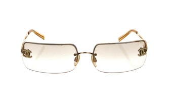Chanel Interlocking CC Logo Square Glasses