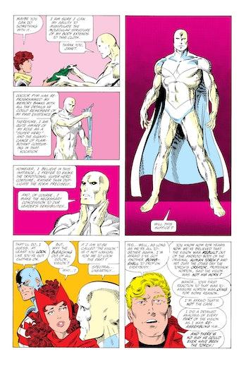White Vision Marvel Comics Avengers WandaVision