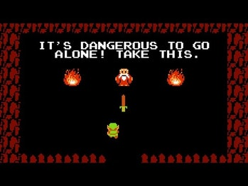 the legend of zelda it's dangerous to go alone