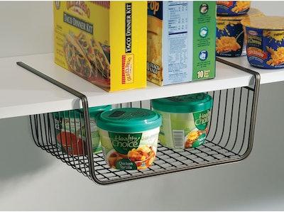 iDesign York Metal Under Shelf Storage Basket