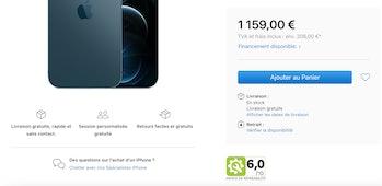 French apple repairability score 1