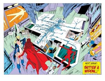 West Coast Avengers Vision table