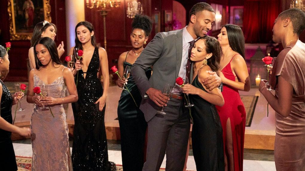 Matt James with contestants on 'The Bachelor'