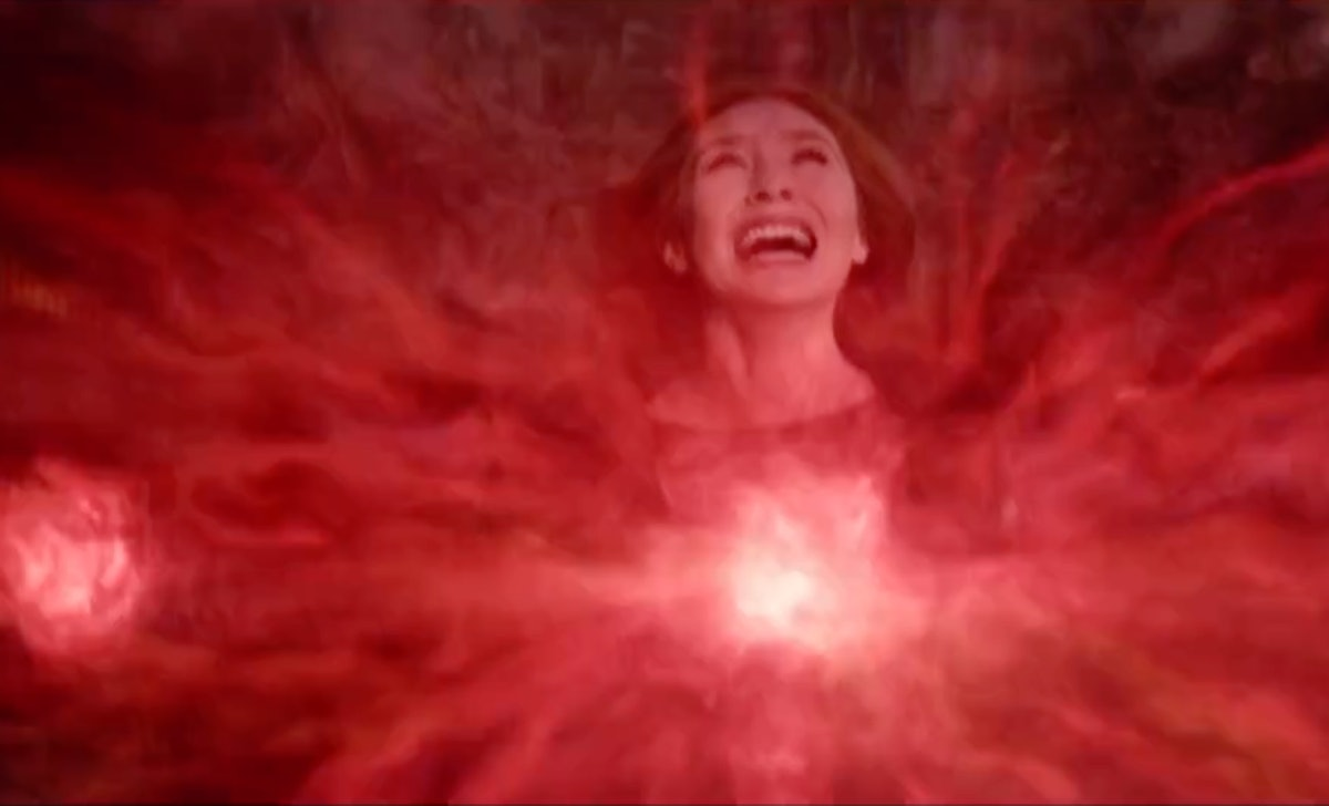 Wanda Maximoff used her Chaos Magic to build Westview in her image after Vision's death.