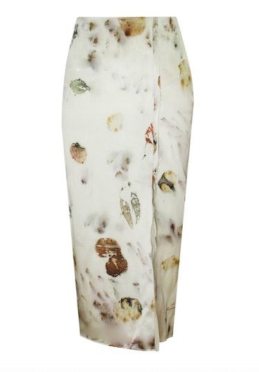 Amalia Ivory Floral Dyed Skirt