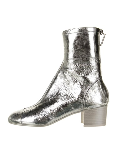 Patent Leather Animal Print Boots