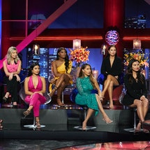 Katie, Kit, Jessenia, Khaylah, Ryan, Abigail, and Brittany at the 'Bachelor: Women Tell All' special via ABC's press site