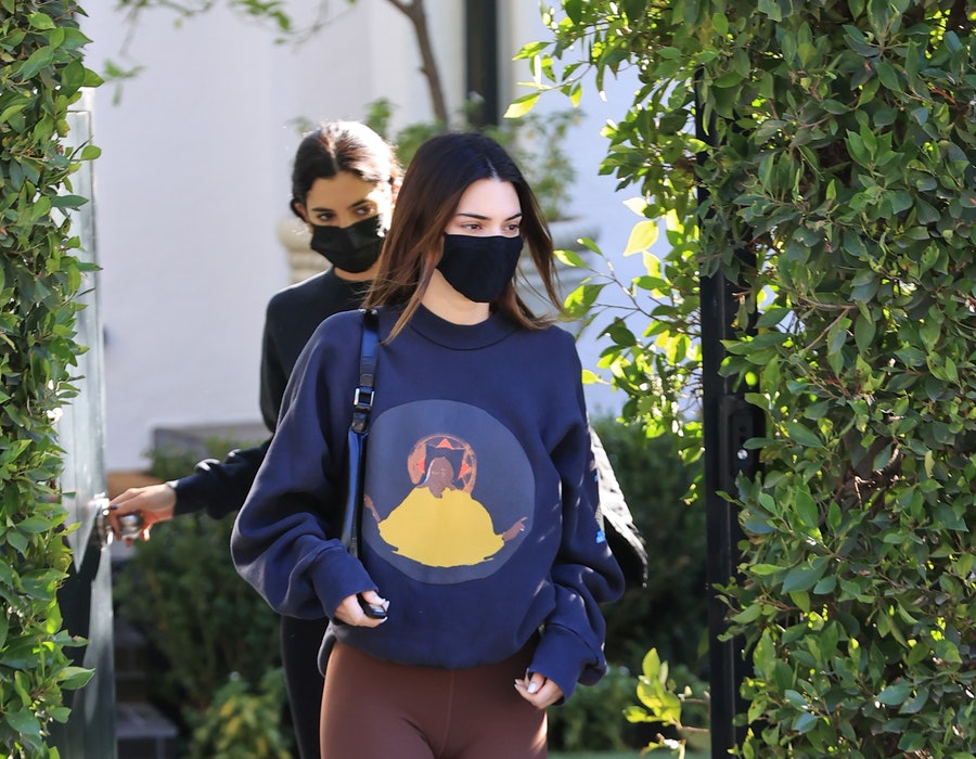 Kendall Jenner is seen on January 20, 2021 in Los Angeles, California.