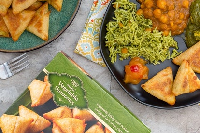 These mini vegetable samosas are the ultimate Super Bowl dish.