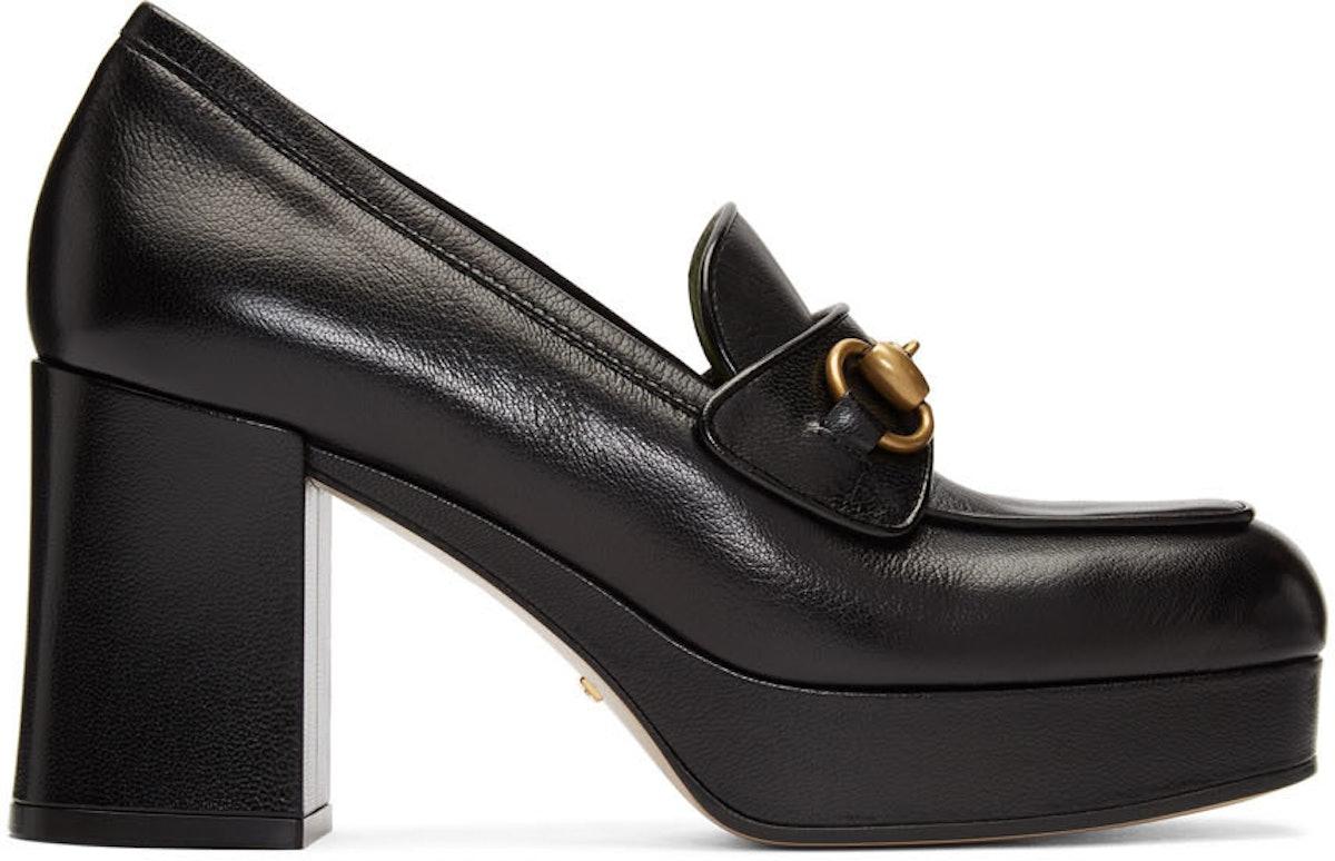 Black Houdan Horsebit 85 Heels