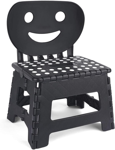 ACSTEP Folding Step Stool with Smile Back Support for Kids