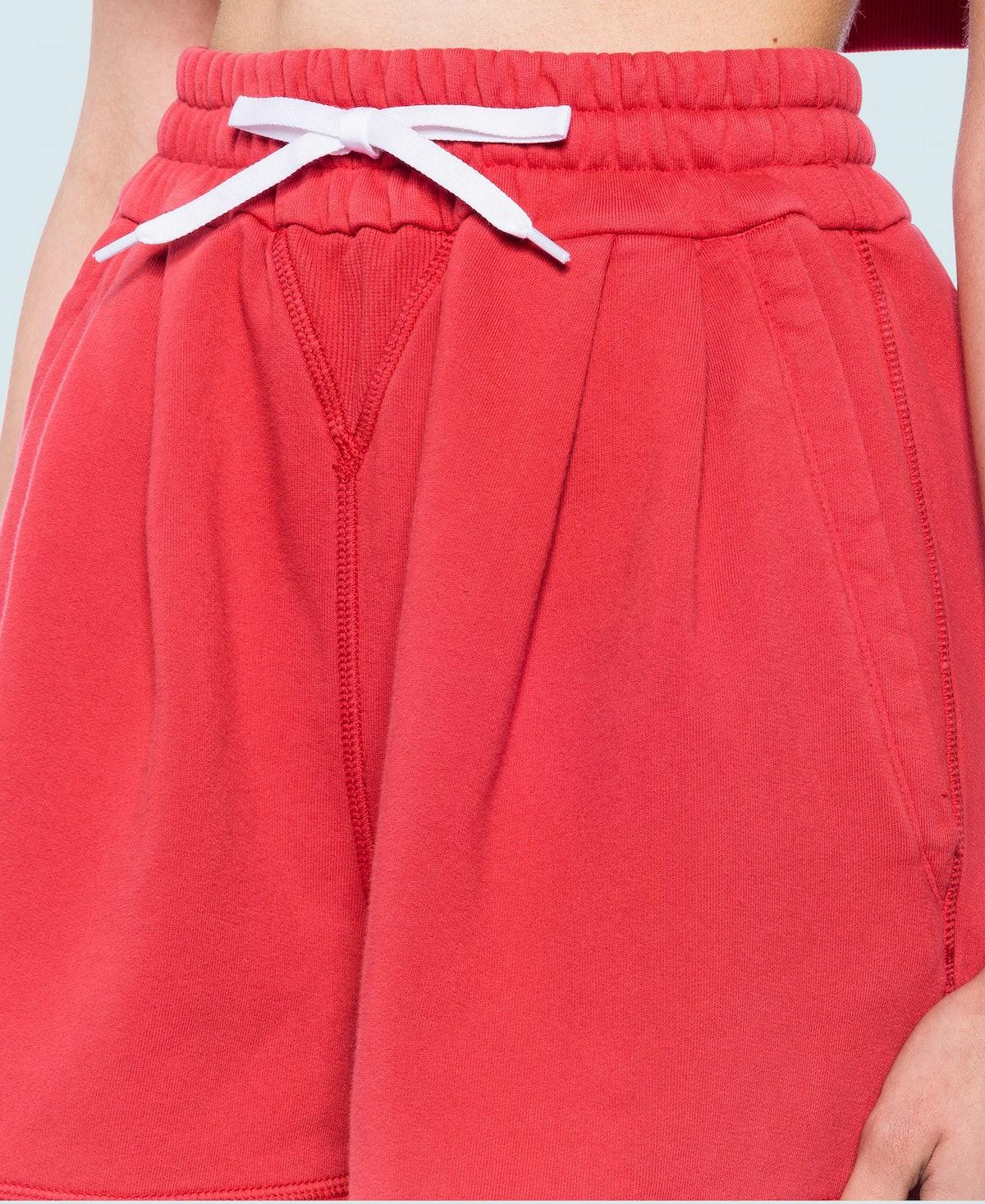 Cotton Fleece Garment-Dyed Shorts