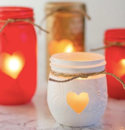 heart votive candles