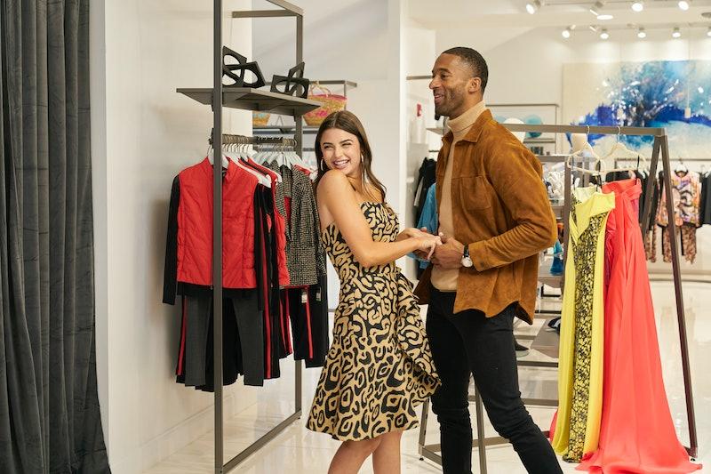 Rachael and Matt during their one-on-one shopping date. Photo via ABC