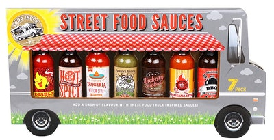 Thoughtfully Gifts Street Food Sauces Hot Sauce and BBQ Gift Set