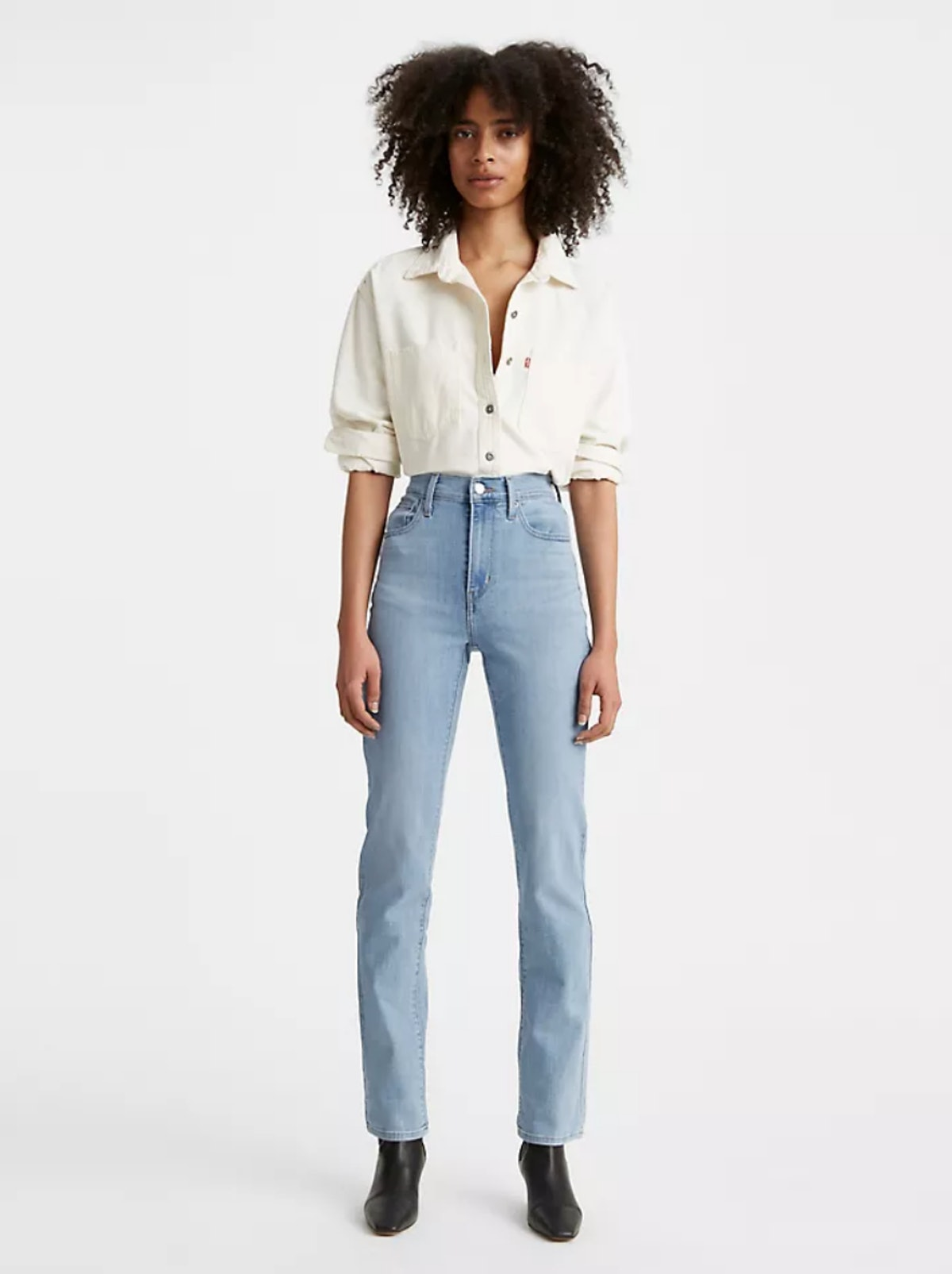 724 High Rise Straight Jean