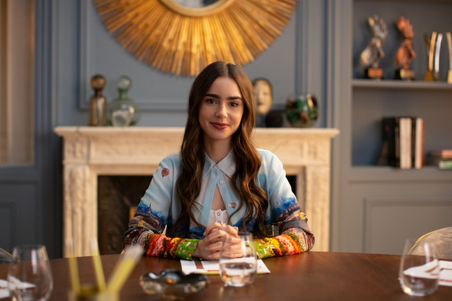 Lily Collins in 'Emily in Paris,' which was nominated for two Golden Globes.