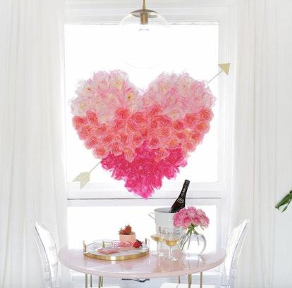 heart flower decoration