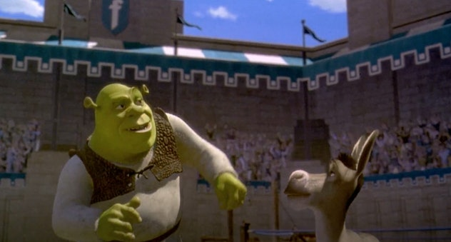 Eddie Murphy lends his voice to the 2001 animated film, 'Shrek.'