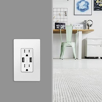 TOPGREENER 3.1A USB Outlets (2-Pack)