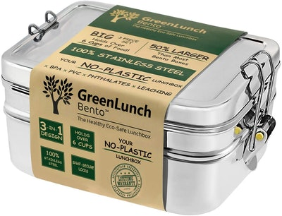 GreenLunch Bento 3-in-1 Stainless Steel Bento Box