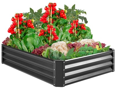 Best Choice Products Metal Raised Garden Bed