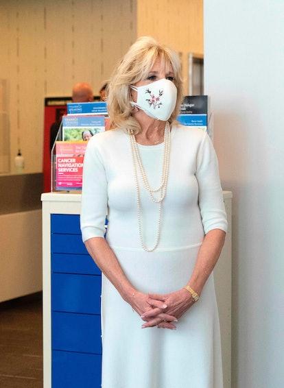 Jill Biden tours Whitman-Walker Health hospital on January 22, 2021 in Washington, DC.