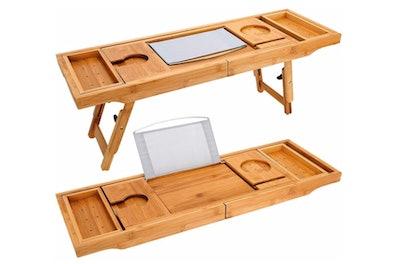 TILEMALL Bathtub Caddy & Bed Desk