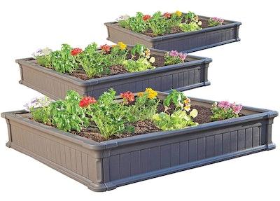 Lifetime Raised Garden Bed Kit (3-Pack)