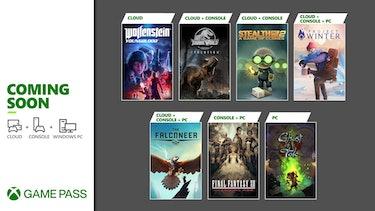Xbox Game Pass menu