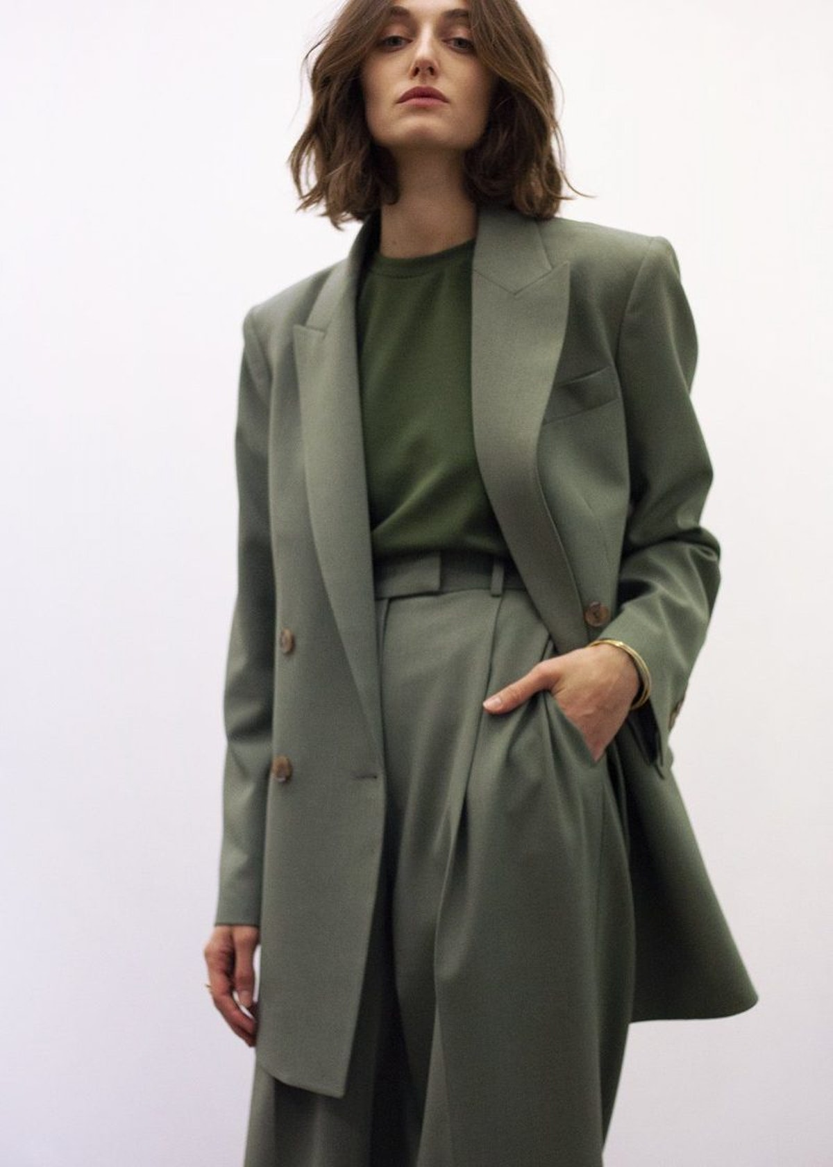 Elivra Double Breasted Suit Blazer