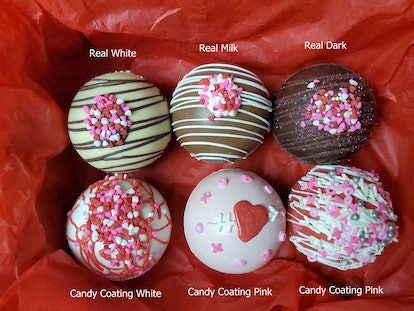 Hot Chocolate Bombs for Valentine's Day