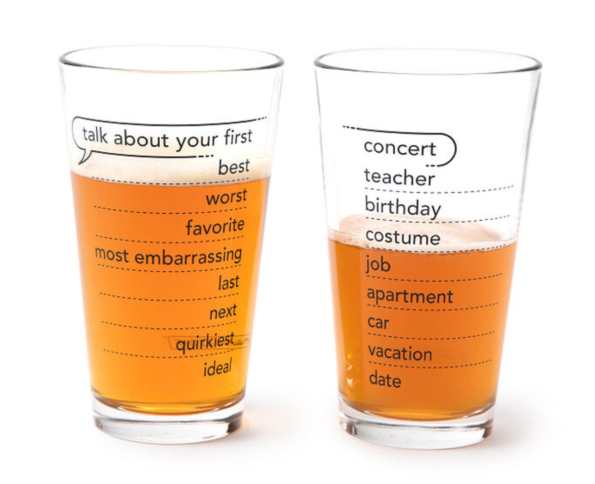 Talking Pints — Conversation Glassware