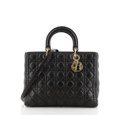 Dior Lady Dior Bag Cannage Quilt Lambskin Large