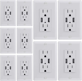 Dependable Direct USB Charger Power Outlets (10-Pack)