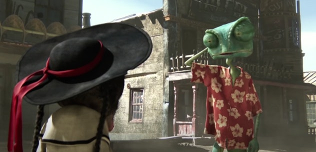 Johnny Depp lends his voice to the 2011 animated film, 'Rango.'