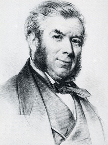 a portrait of Charles Nicholson, who owned the mummy