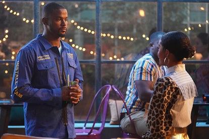 Trevor Jackson & Yara Shahidi as Aaron and Zoey in 'grown-ish' Season 3b via Freeform's press site