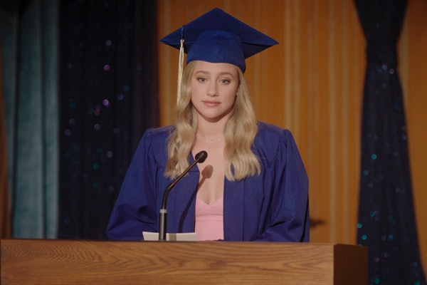 Lili Reinhart as Betty Cooper saying her graduation speech on 'Riverdale'