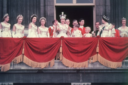 The newly crowned Queen Elizabeth II waves to the crowd