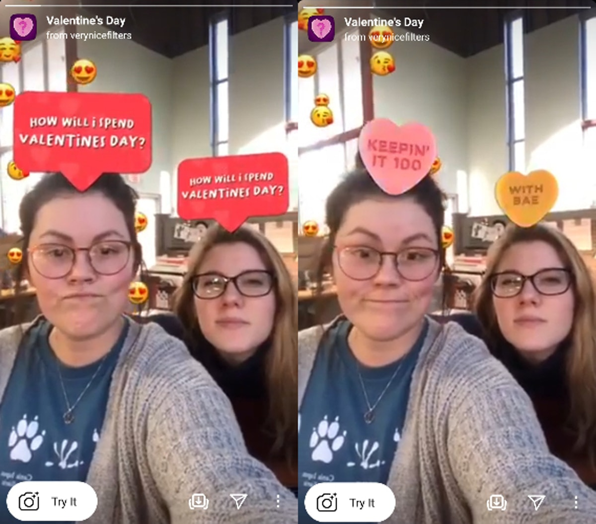 These Valentine's Day 2021 Instagram filters feature cute AR predictors.