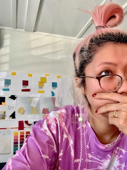 Claudia Li in the office.